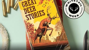 Deer story book on a table with ammo.