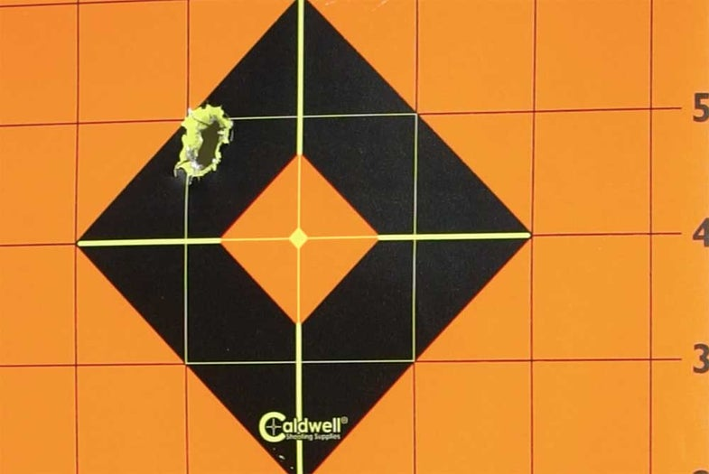 caldwell target with bullet holes