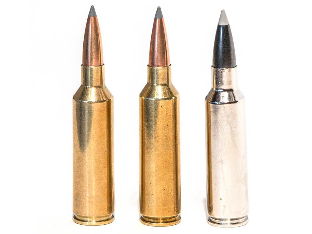 three short magnum ammo cartridges