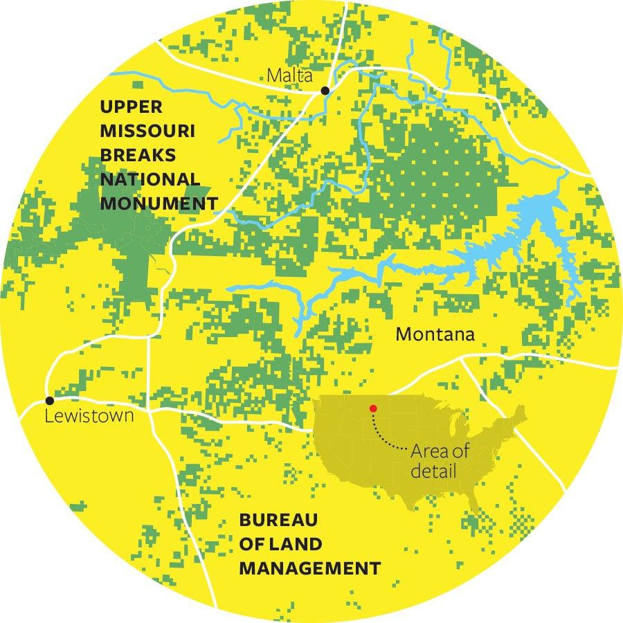 upper missouri breaks national monument map
