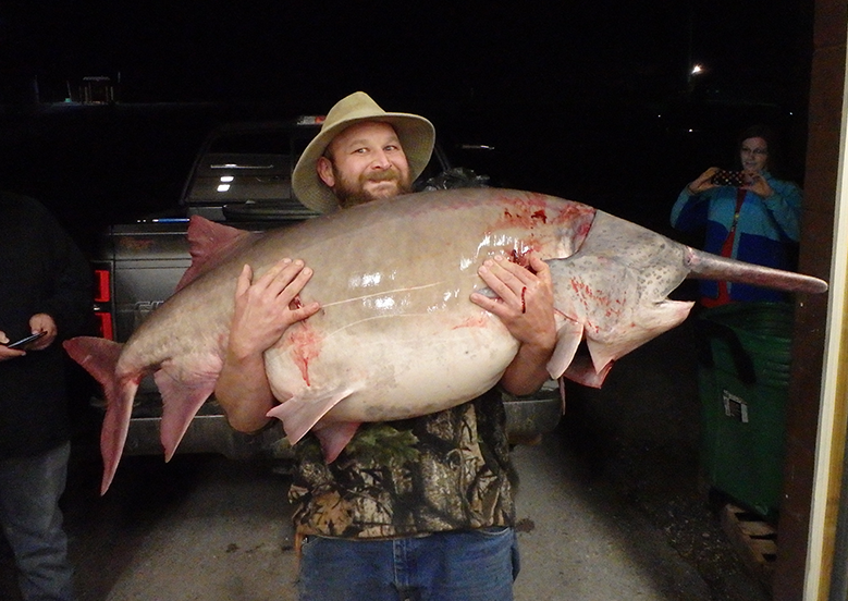 Missouri Angler Snags 140-Pound Spoonbill All-Time State Record