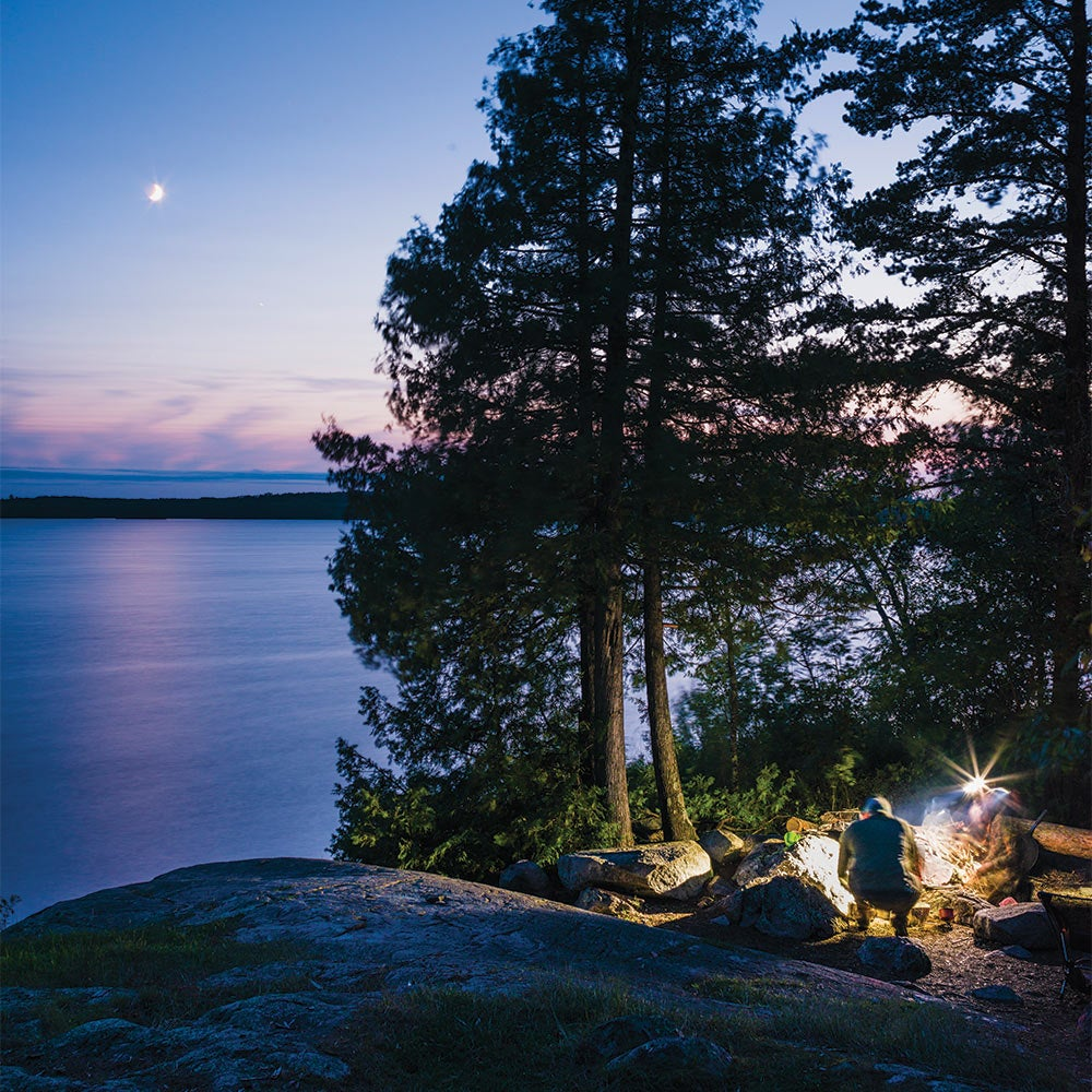 setting up camp boundary waters canoe area wilderness