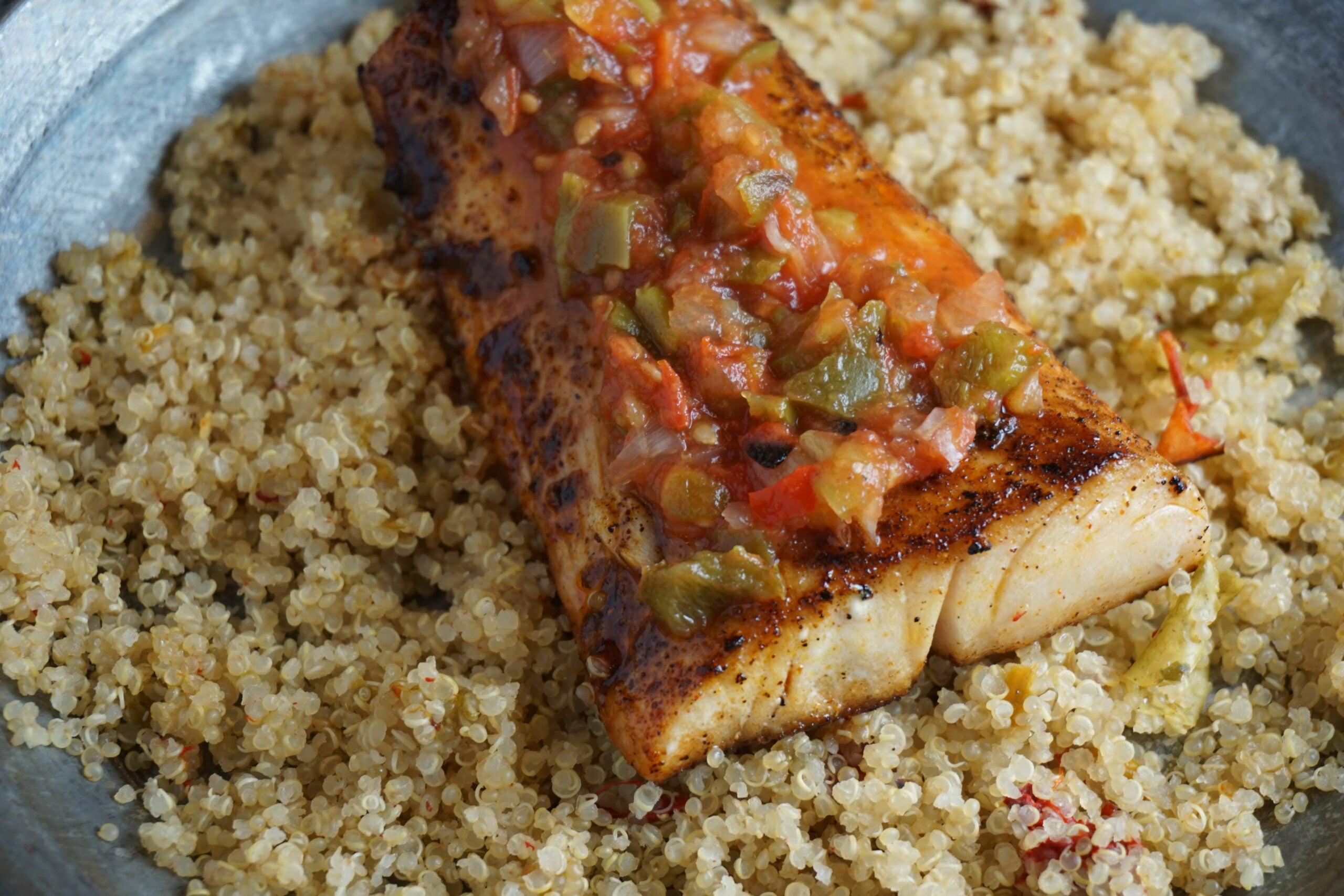Recipe: Chili-Cumin Mahi-Mahi with Green Chile Quinoa