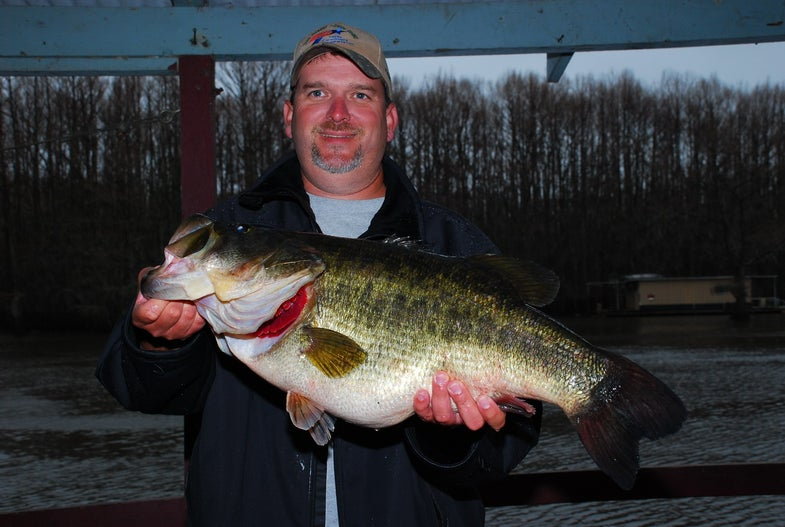Texas' Biggest Bass of the Year (So Far) Breaks Caddo Lake Record