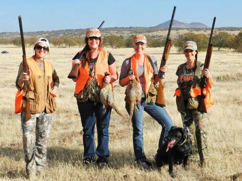 california pheasant hunt, sacramento, women hunters