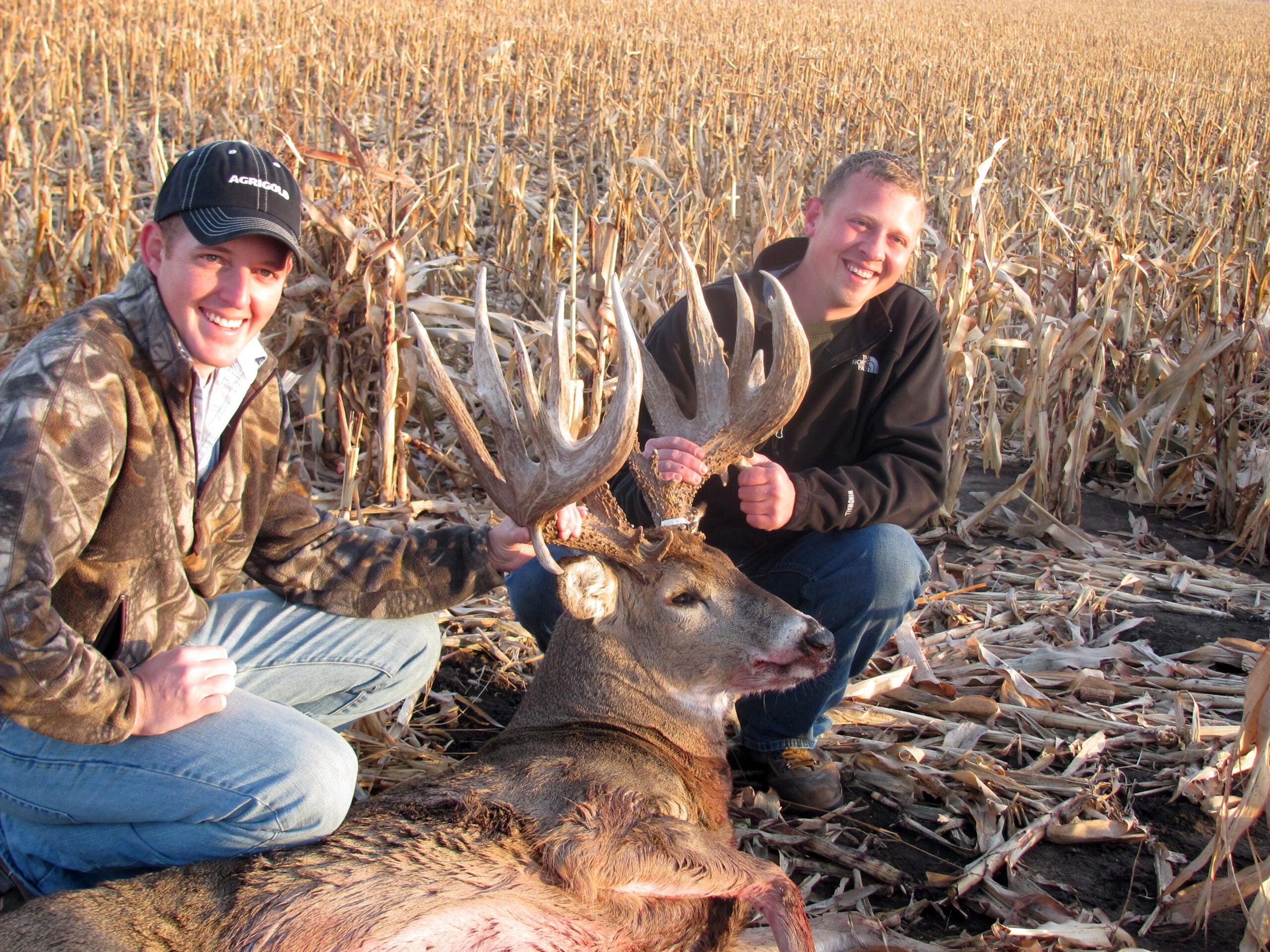 Best Friends Share Glory of Freakish Nebraska Nontypical Whitetail Trophy