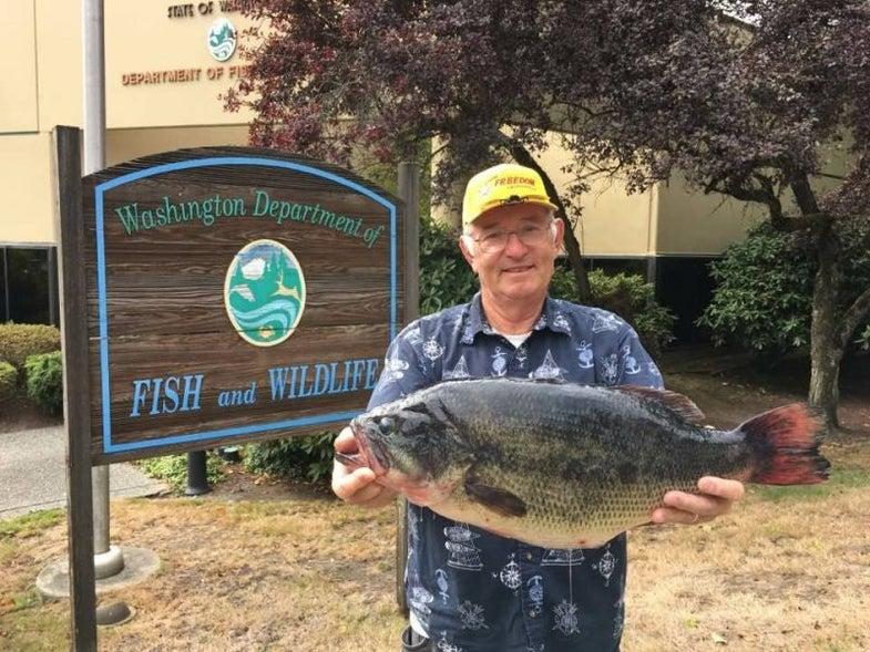 Washington Fisherman Shatters State Largemouth Bass Record