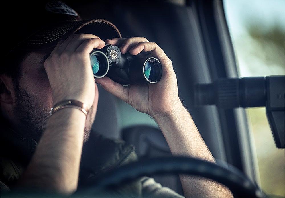 Use binoculars to scout deer activity