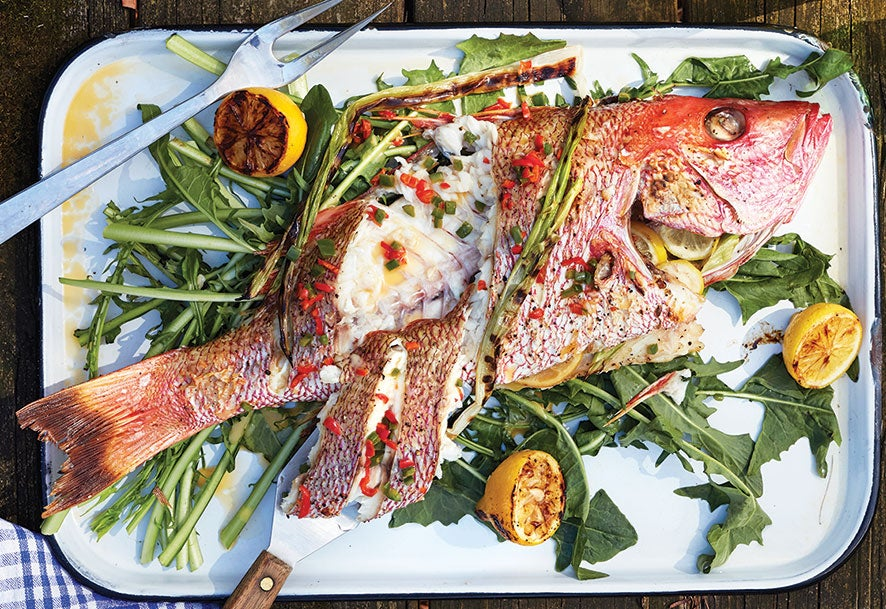 Summer Recipe: Whole Snapper With Roasted Chile Butter