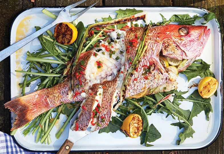 whole snapper with roasted chile pepper recipe