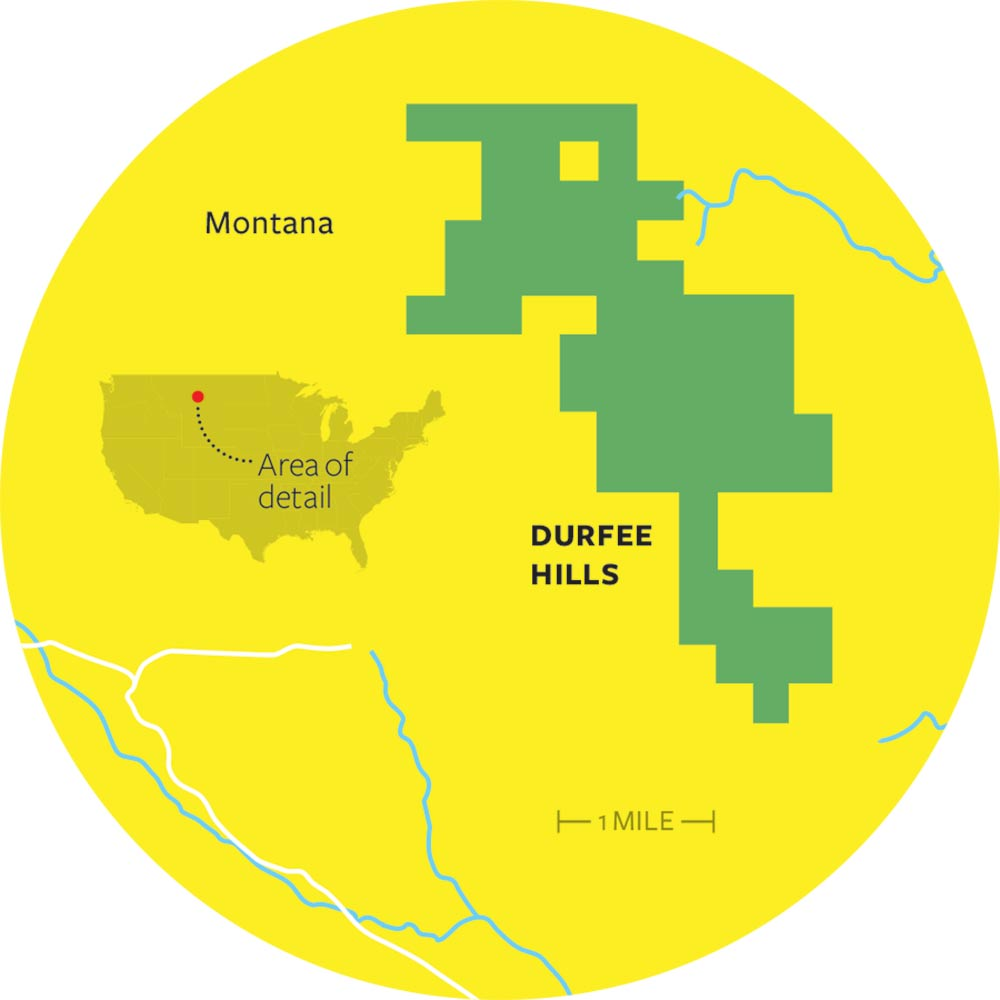 durfee hills montana map