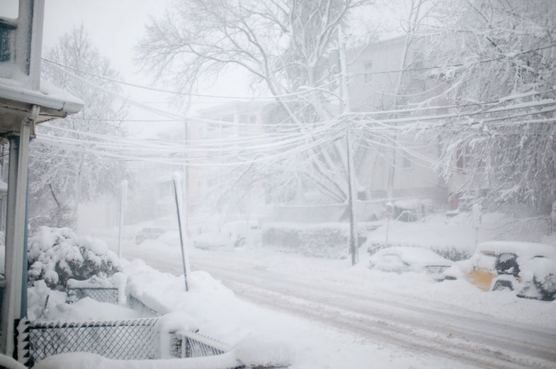 snowstorm, whiteout, main street, eric kilby, somerville, massachusetts