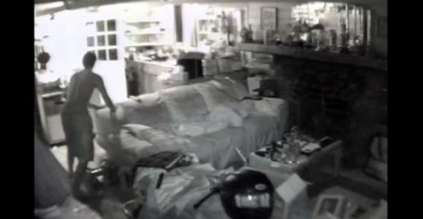 Video: Black Bear Breaks In and Startles Sleeping Man