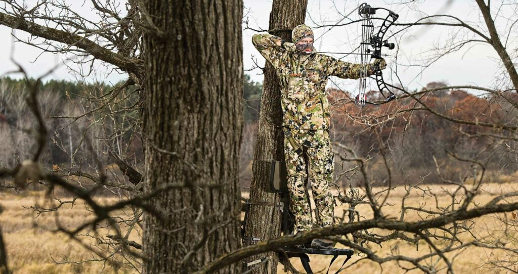 tony peterson whitetail hunting public tree stand