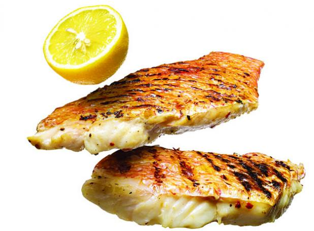 Grilled Roasted Fish on the Half Shell