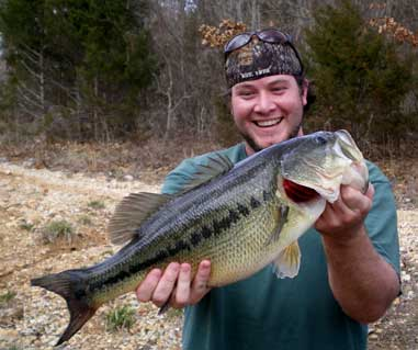 Dustin Brown from Springfield, Mo. caught and released this monster largemouth on March 13, 2007. The 6-pound, 11-ouncer was hauled in from Table Rock Lake.