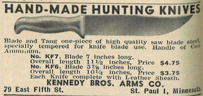 Vintage Field & Stream Knife Ads From the '40s through the '60s