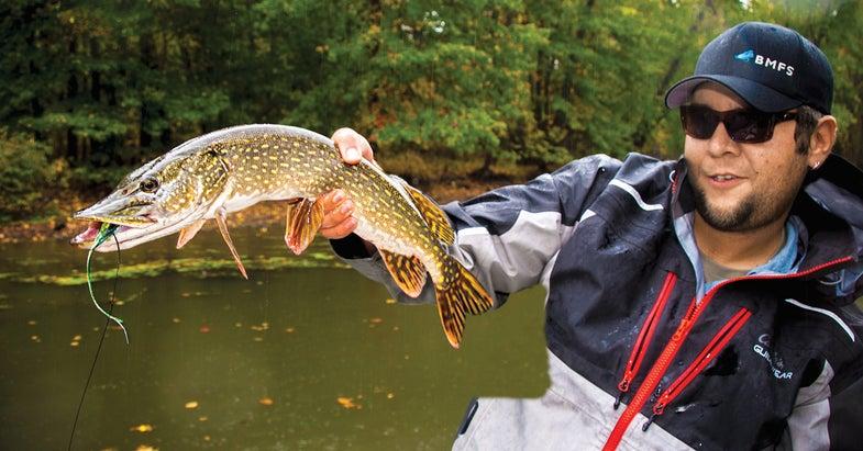 pike leader, pike fishing, pike fly fishing, fly fishing,