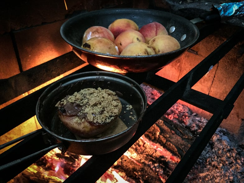 Campfire Cooking: How to Make Nutella-Peach S'mores
