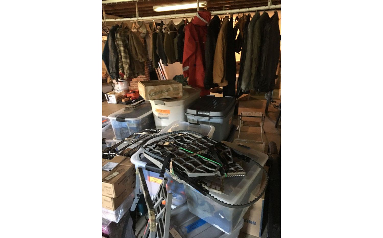 storage, gear, organization, closet, waders, basement