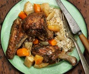 Camp Food Recipe: Stewed Duck With Apples and Turnips