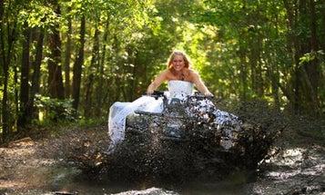 Wedding Photos: 'Trash the Dress' With ATVs