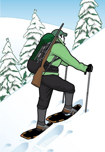 How to Snowshoe Up and Down Hills