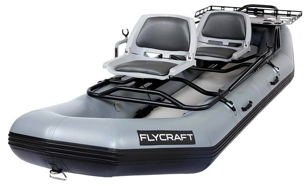 a flycraft two-seater raft boat