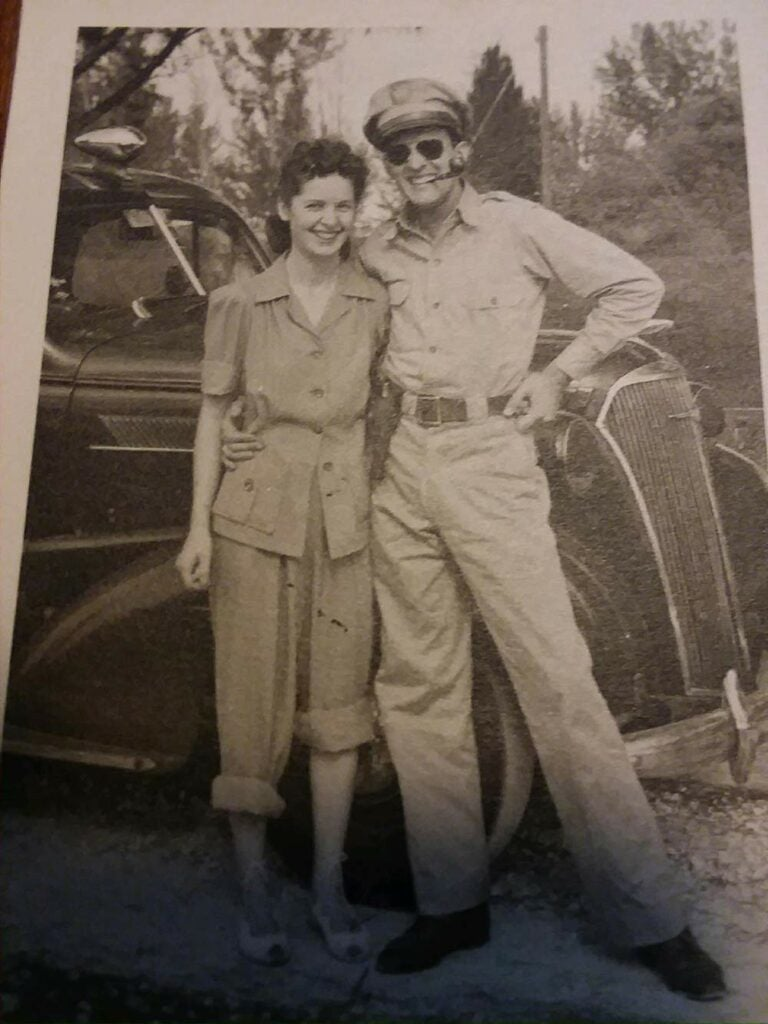 vintage photo of man and woman during world war ii