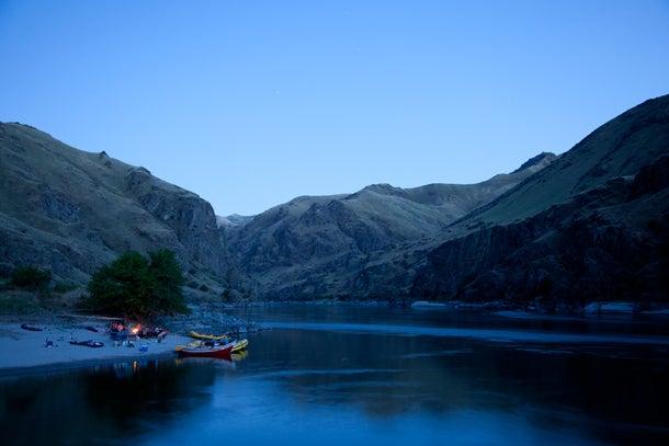 The perfect fish camp at night.