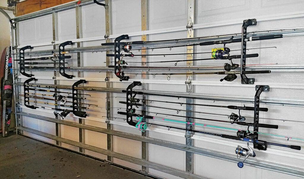 fishing rods, fishing, storing fishing equipment