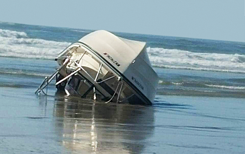 Close Call: Rogue Wave Capsizes Fishermen's Boat
