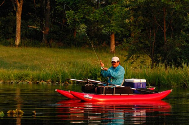 Thing to Do in May: Go Flyfishing for Bluegills on a Float Tube or Pontoon Boat