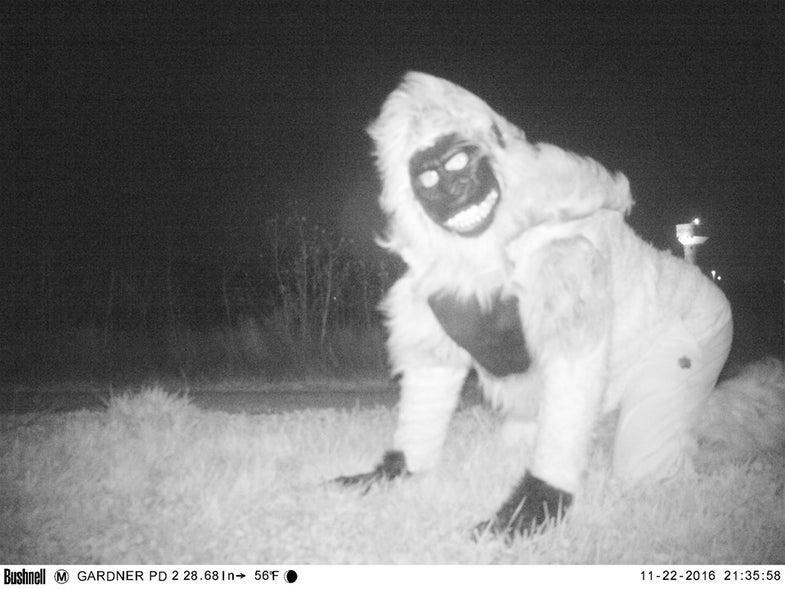 trail camera prank