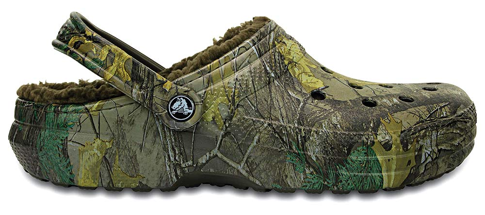 Crocs Classic Realtree Xtra Fuzz-Lined Clogs