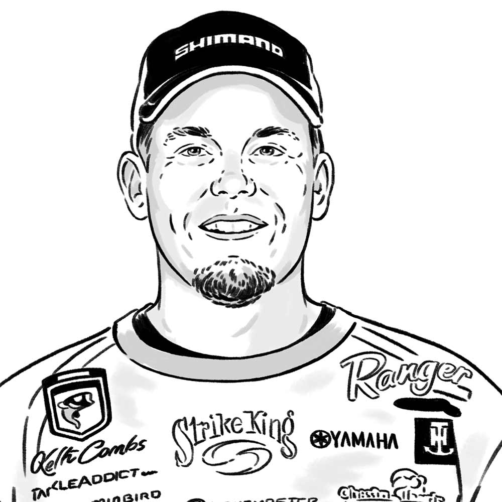 illustration of bass fisher keith combs