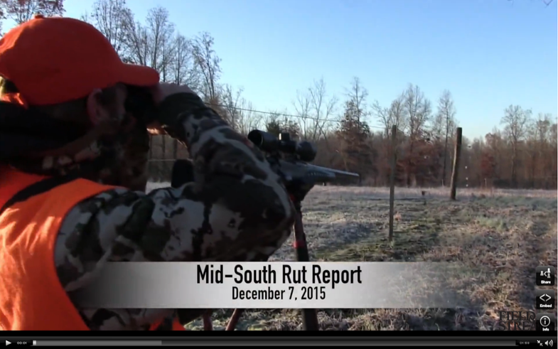 Mid-South December Rut Report