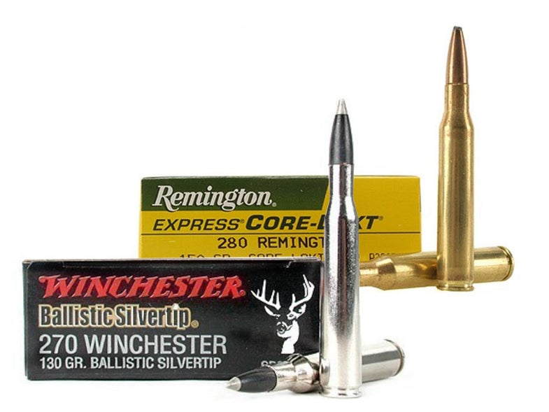 270 winchester and 280 remington ammo