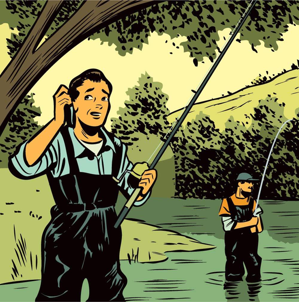 fishing excuses illustration