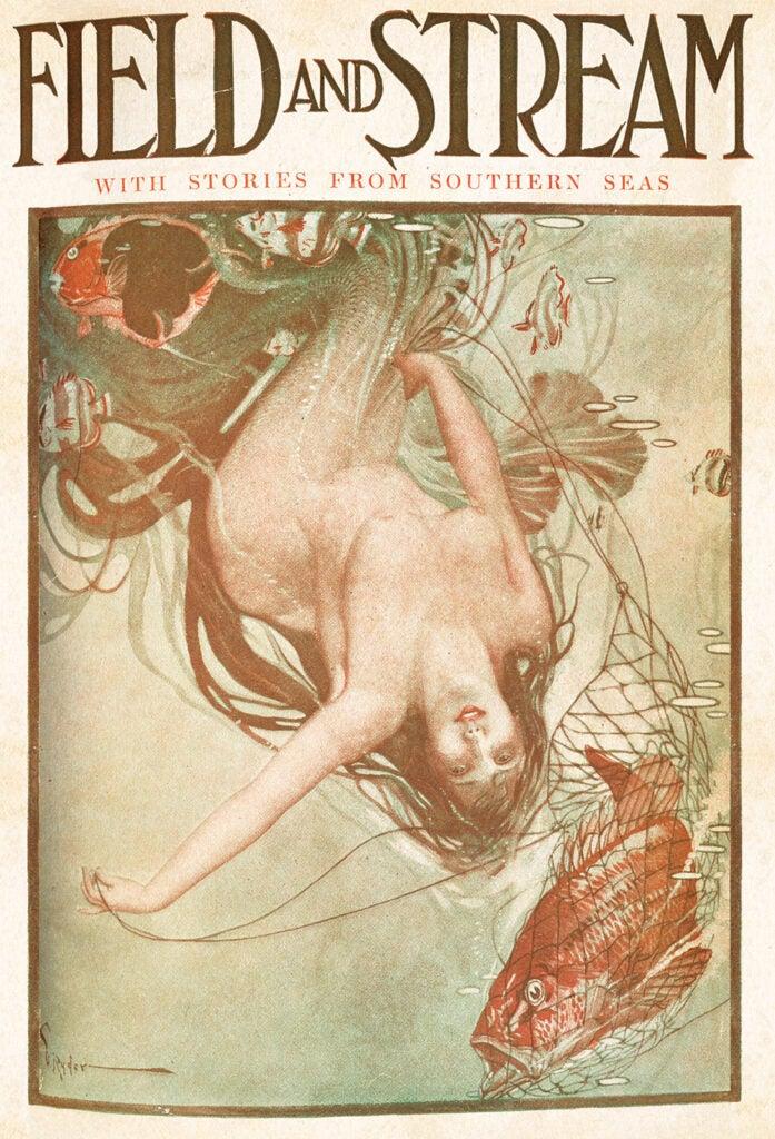 cover, vintage, F&S, mermaid, boat
