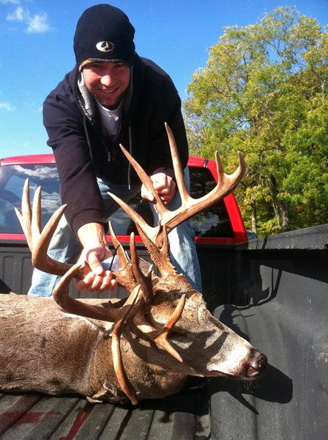 Trail Cam Photos of 21-Point Ohio Buck Lure Father and Son Back To The Deer Woods