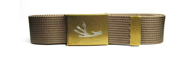 Tyger Forge Gator Grip Web Belt with Brass Buckle