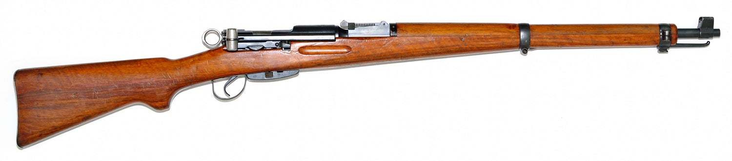 Swiss K31, straight-pull bolt-action military rifle