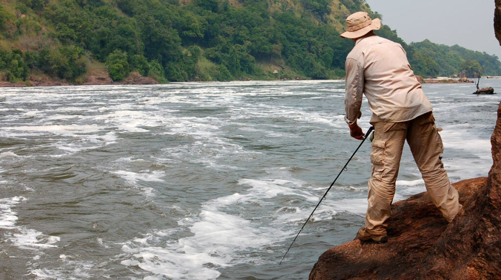 Smith Fishing in the African Nile
