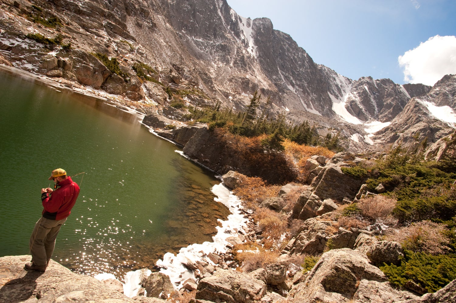 flyfishing, Rocky Mountain National Park in Colorado