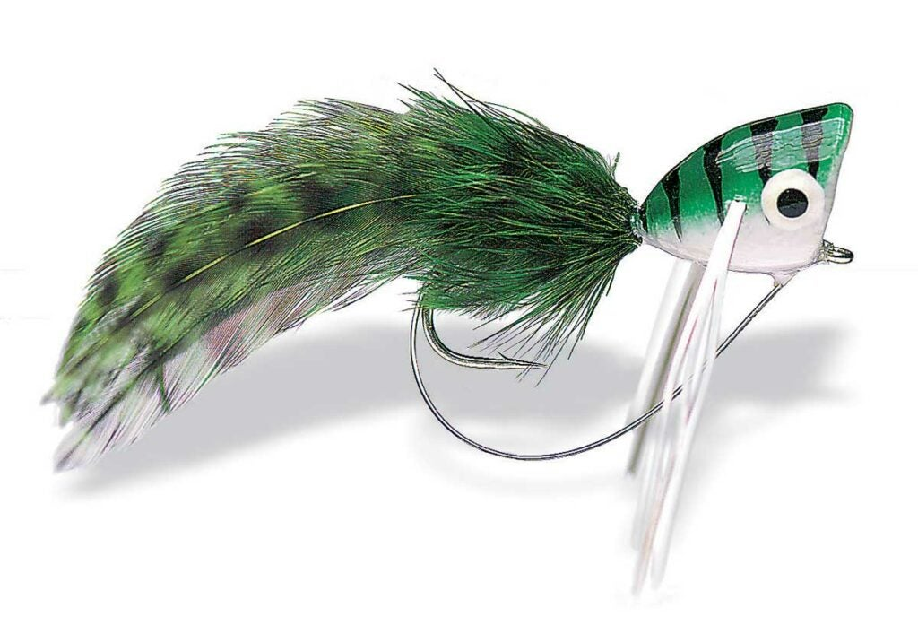 bass popper fly.