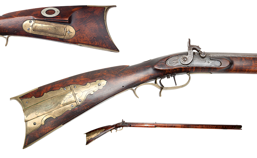 The Kentucky Rifle on a white background.