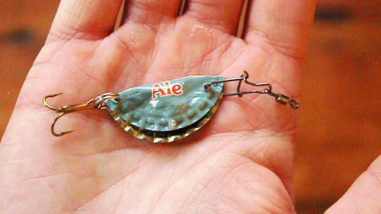 bottle cap fishing lure