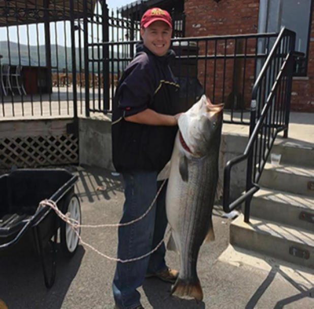 NY State Record Freshwater Striped Bass Caught on Hudson River