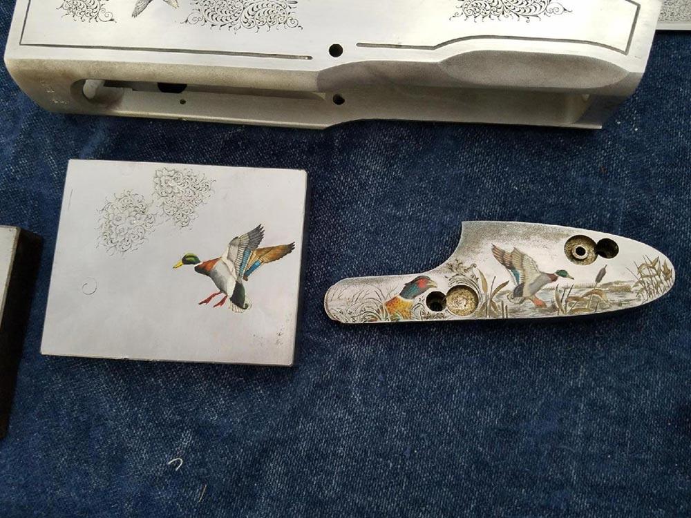 beretta shotgun engraving duck